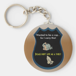 Will it get you out of a ticket? basic round button keychain