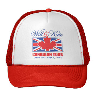 WILL & KATE CANADIAN TOUR TRUCKER HAT