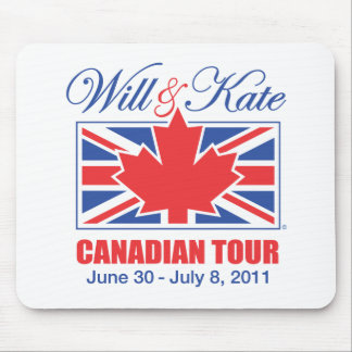 WILL & KATE CANADIAN TOUR MOUSE PAD