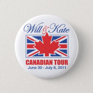 WILL & KATE CANADIAN TOUR PINBACK BUTTON