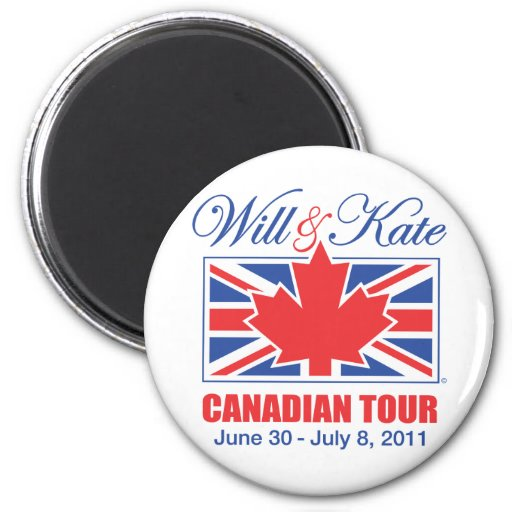 WILL & KATE CANADIAN TOUR REFRIGERATOR MAGNETS