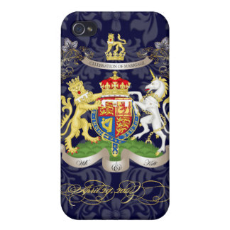 Will+Kate Memorabilia Customizable Background iPhone 4/4S Case