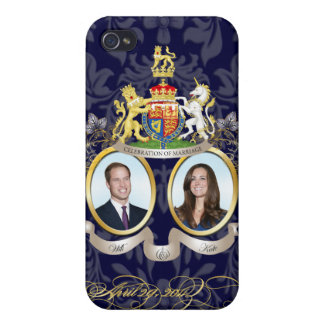Will+Kate Memorabilia Customizable Background Cases For iPhone 4