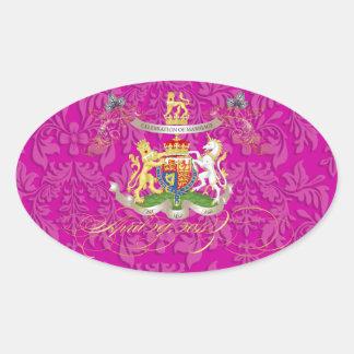 Will+Kate Memorabilia, customizable color! Oval Sticker