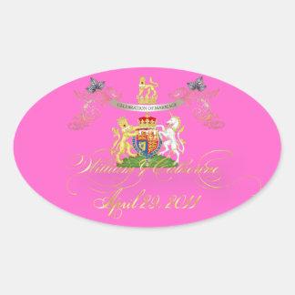 Will+Kate Memorabilia, diy color! Oval Sticker