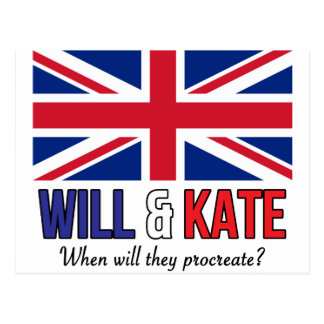 Will & Kate Postcard