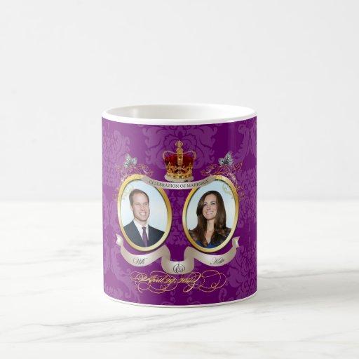 Will+Kate wedding, diy Color!! Coffee Mugs
