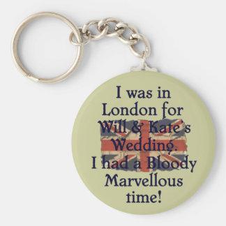 Will & Kate's Wedding Basic Round Button Keychain