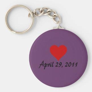 Will & Kate's Wedding Date Basic Round Button Keychain