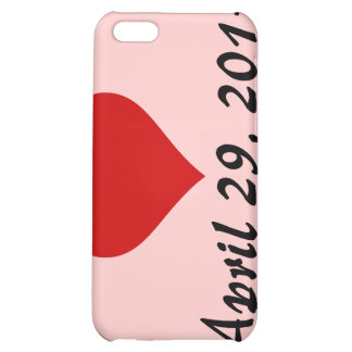 Will & Kate's Wedding Date iPhone 5C Cases