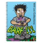 Will Lee Barf Spiral Notebook