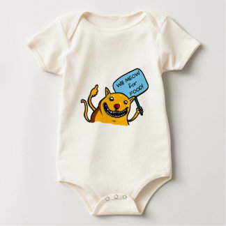 Will MEOW for FOOD! Baby Bodysuit