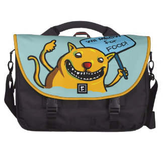 Will MEOW for FOOD Laptop Bag