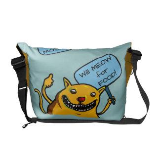 Will MEOW for FOOD Messenger Bag