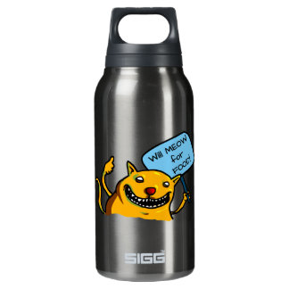 Will MEOW for FOOD! Thermos Bottle