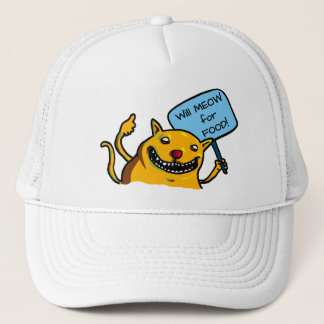 Will MEOW for FOOD! Trucker Hat