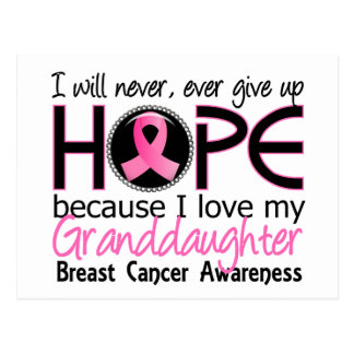 Will Never Give Up Hope Granddaughter Breast Cance Postcard