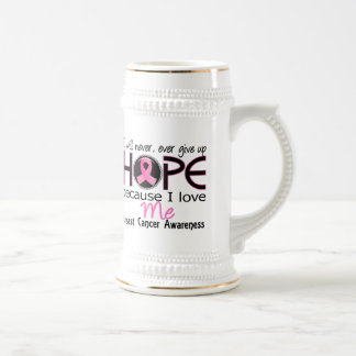 Will Never Give Up Hope Me Breast Cancer Beer Stein