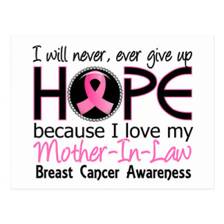 Will Never Give Up Hope Mother-In-Law Breast Cance Postcard