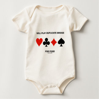Will Play Duplicate Bridge For Food (Card Suits) Baby Creeper