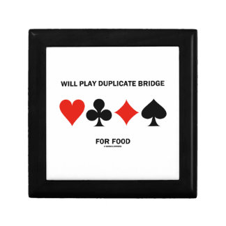 Will Play Duplicate Bridge For Food Card Suits Jewelry Boxes
