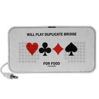 Will Play Duplicate Bridge For Food Card Suits PC Speakers