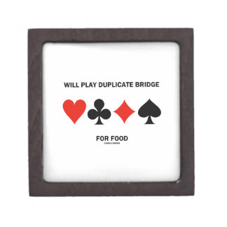 Will Play Duplicate Bridge For Food Card Suits Premium Gift Boxes