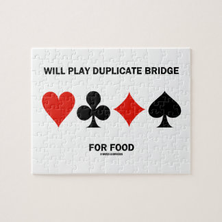 Will Play Duplicate Bridge For Food Card Suits Puzzle