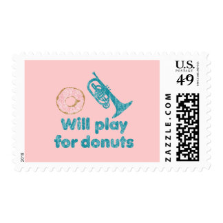 Will Play Mellophone for Donuts Stamp