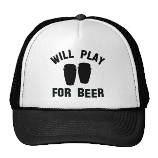 Will play the Conga for beer vector designs Mesh Hats