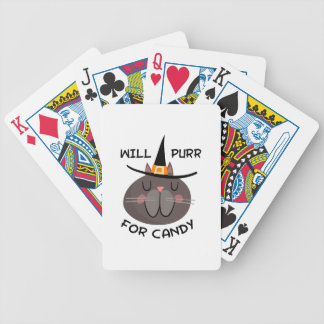 WILL PURR FOR CANDY BICYCLE PLAYING CARDS