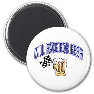 Will Race For Beer Refrigerator Magnets