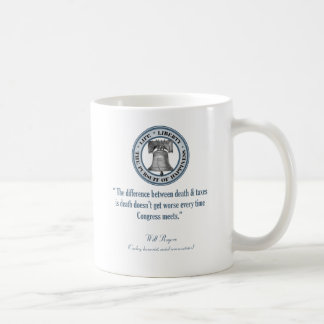 Will Rogers Quote (Death & Taxes) Classic White Coffee Mug