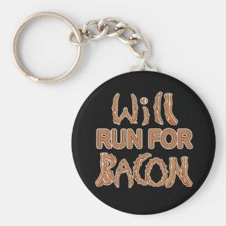 WILL RUN FOR BACON Running Tees & Gear Key Chain