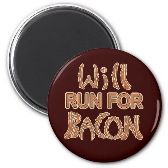 WILL RUN FOR BACON Running Tees & Gear Magnet