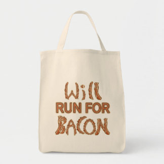 WILL RUN FOR BACON Running Tees & Gear Tote Bag