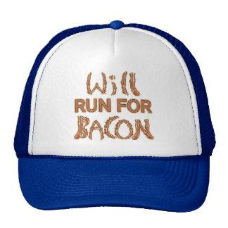 WILL RUN FOR BACON Running Tees & Gear Trucker Hat