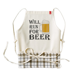 Will Run For Beer Zazzle HEART Apron
