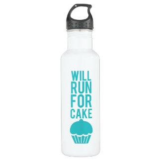 Will Run For Cake Water Bottle