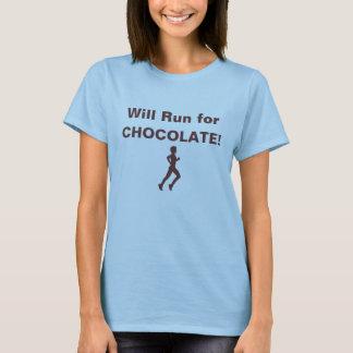 Will Run for Chocolate t-shirt