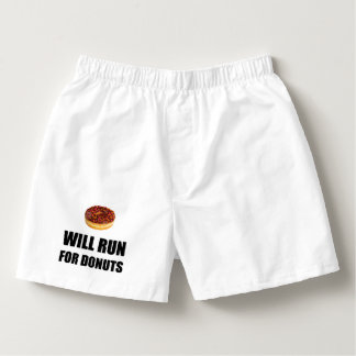 Will Run For Donuts Boxers