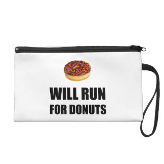 Will Run For Donuts Wristlet