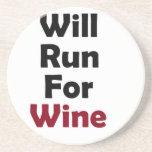 Will Run for Merlot Beverage Coaster