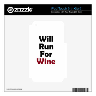 Will Run for Merlot iPod Touch 4G Decals
