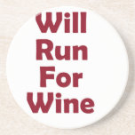 Will run for red wine beverage coasters