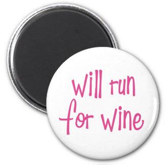 Will run for wine fridge magnet
