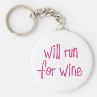 Will run for wine key chain