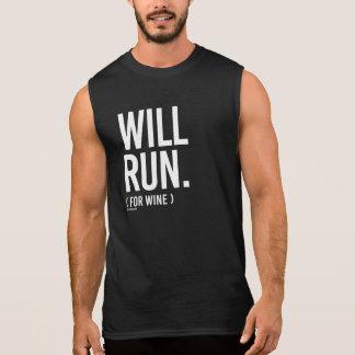 Will Run for Wine -   Running Fitness -.png Sleeveless Shirt
