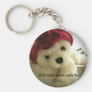 Will scale these walls for LOVE... Basic Round Button Keychain