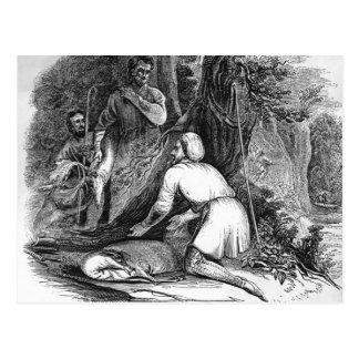 Will Scarlet Kills a Buck Postcard